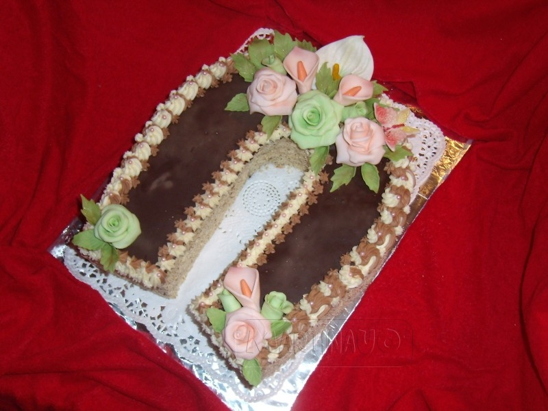 Podkova čokoládovo-vanilková 2,85kg