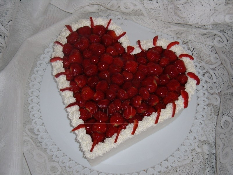 Jahodove srdce svatebni