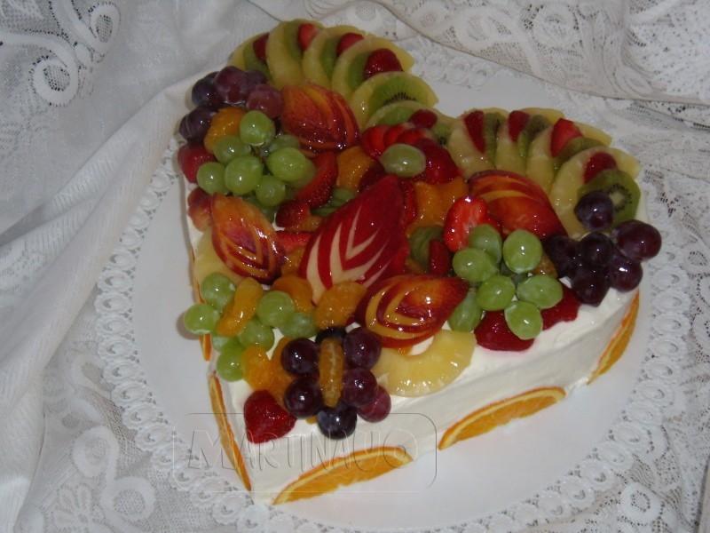 Srdce ovocne svatebni